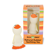 Natural Rubber Teething Toy - Goose