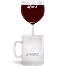 The Before And After 5 Coffee Wine Glass